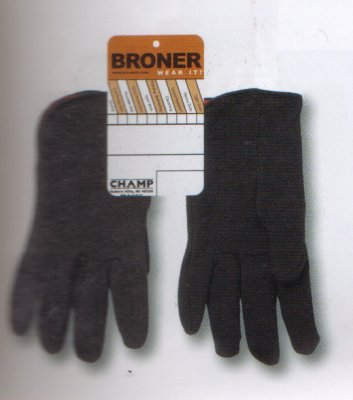 Brown Jersey Gloves, Lined