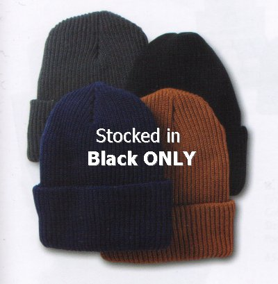 Knit Cap, Stitched, Black