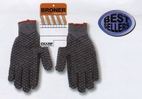 Grey Gripper Gloves