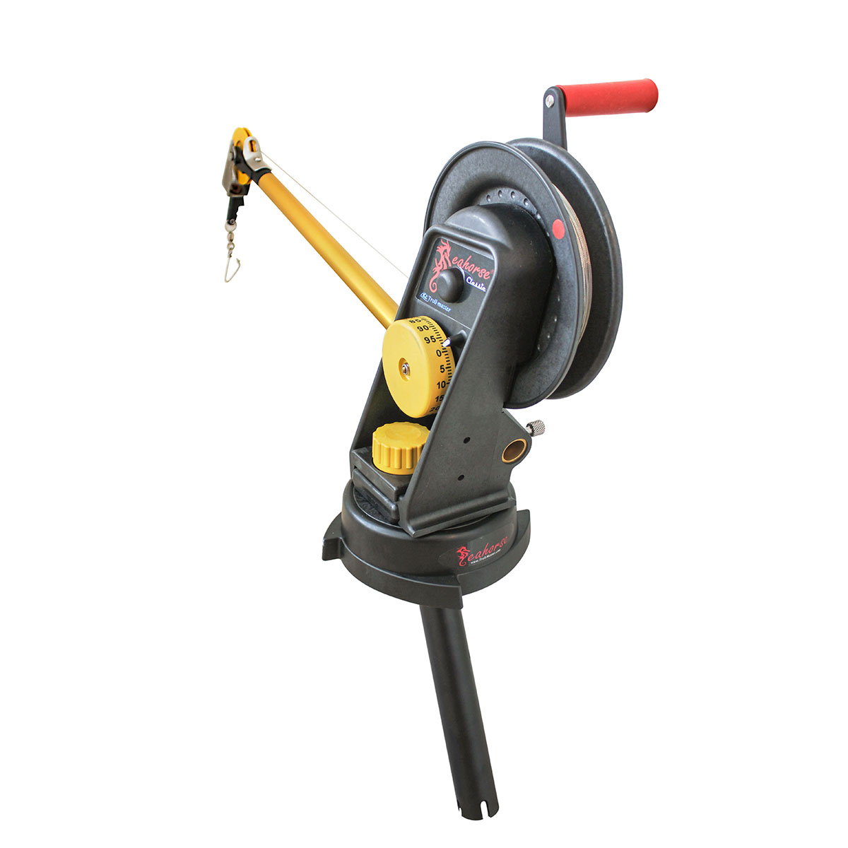 Troll-Master Seahorse AR-2000 Downrigger with AR-1021 Swivel Base and PR-1030 Gimbal Mount