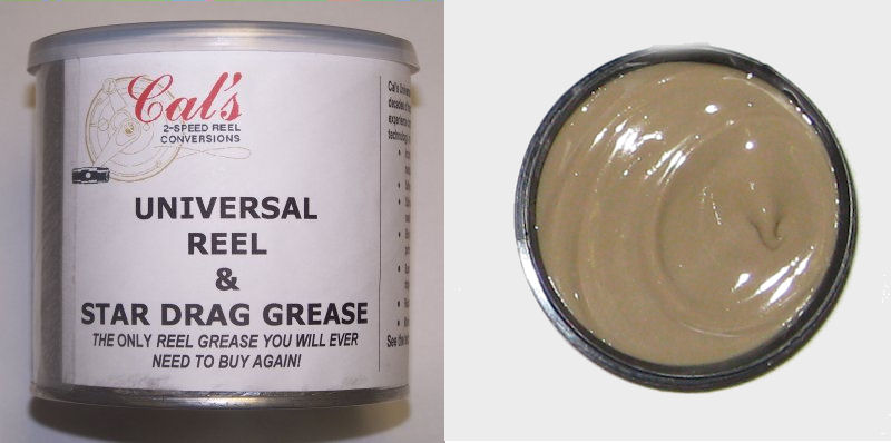 Cal's Universal Grease, Tan, for Larger Reels (1 Pound)