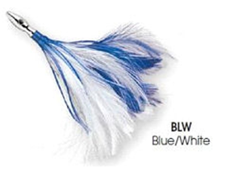 Williamson Blue/White Flash Feather Rigged