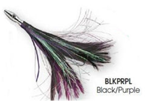 Williamson Black/Purple Flash Feather Rigged