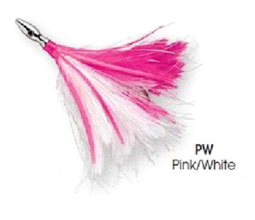 Williamson Pink/White Flash Feather Rigged