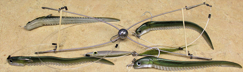 S & S Umbrella Rig ~ Hogy Sand-Eel & Slim Fish Combo