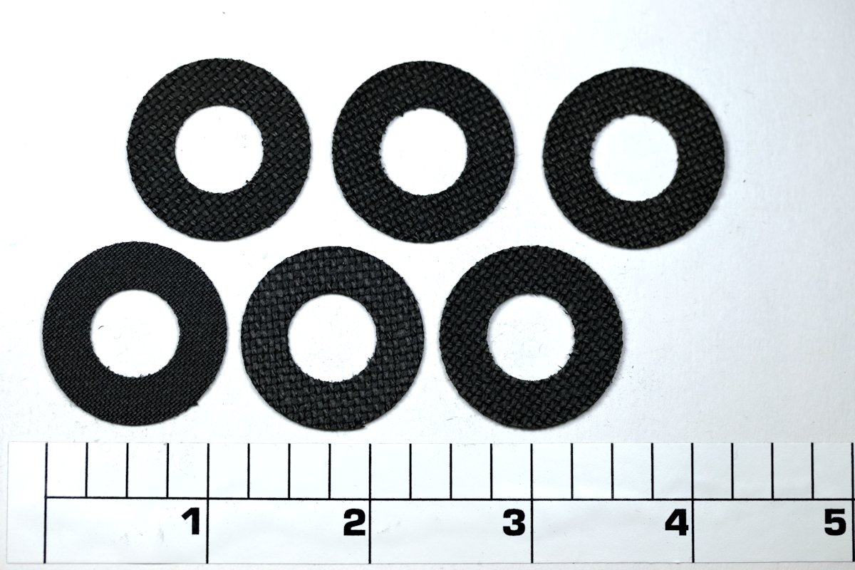 6-114HSD Set, Drag Washers, CARBONTEX by SmoothDrag (Custom)