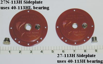 27N-113H Plate, Non-handle Side Plate (Red)