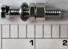 34C-116 Screw With Nuts, for Rod Clamp (uses 2)