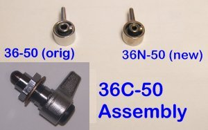 36C-50 Button, Click Button Complete Assembly
