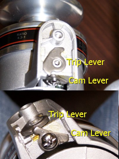103C trip and cam levers